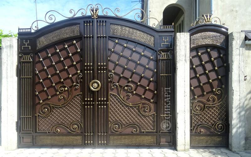 Кованые ворота в Орле