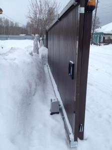 Подготовка откатных ворот к зиме